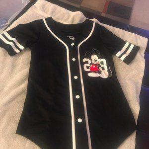 Size small Mickey Mouse baseball shirt